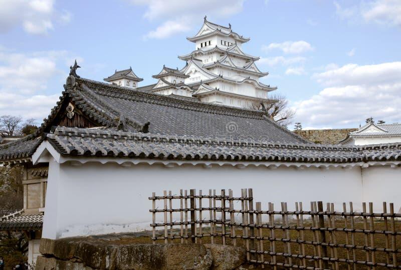 Himeji slott eller vitägretthägerslott royaltyfria bilder