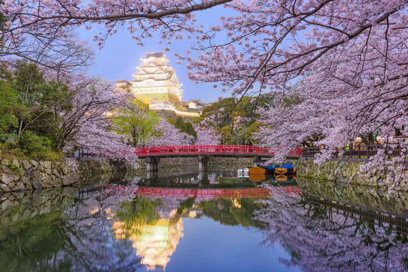 Himeji slott, Japan royaltyfria bilder