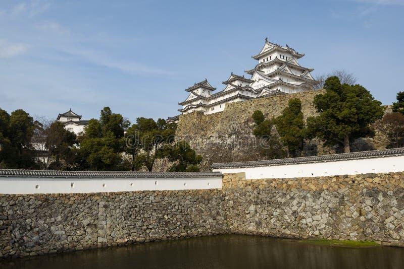 Himeji slott som från inre ses slottväggen, Kansai Japan arkivfoton