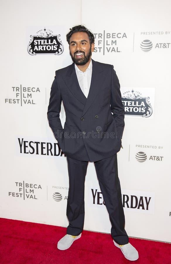 Himesh Patel bij Wereldpremière van 'gisteren 'bij de Filmfestival van Tribeca van 2019 royalty-vrije stock foto's