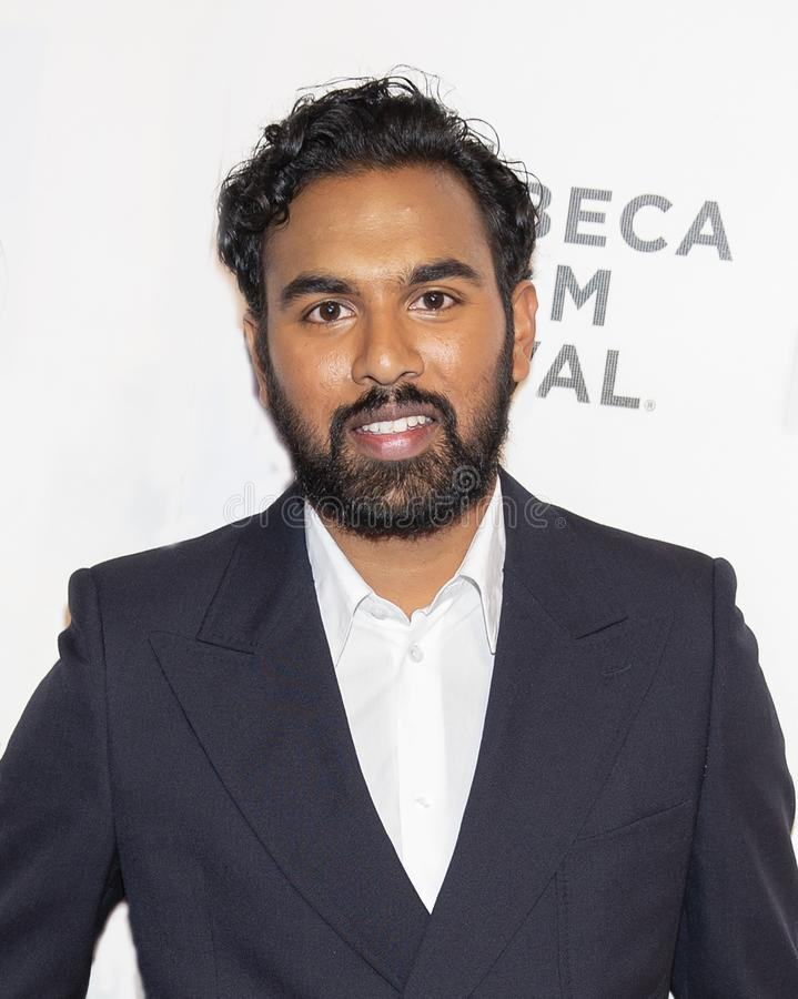 Himesh Patel at World Premiere of `Yesterday` at 2019 Tribeca Film Festival. English television and movie actor Himesh Patel arrives at the World Premiere of ` stock photo