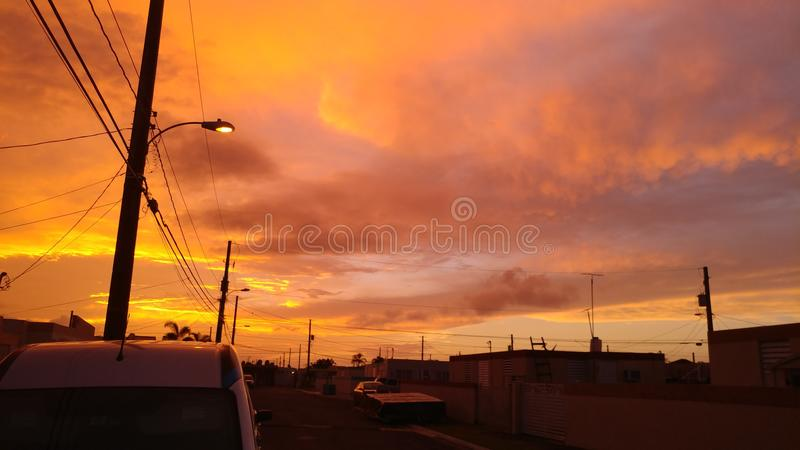 Himlar för mango för Puerto Rico ` s arkivfoto