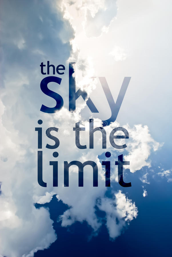 Himlen är gränsen vektor illustrationer