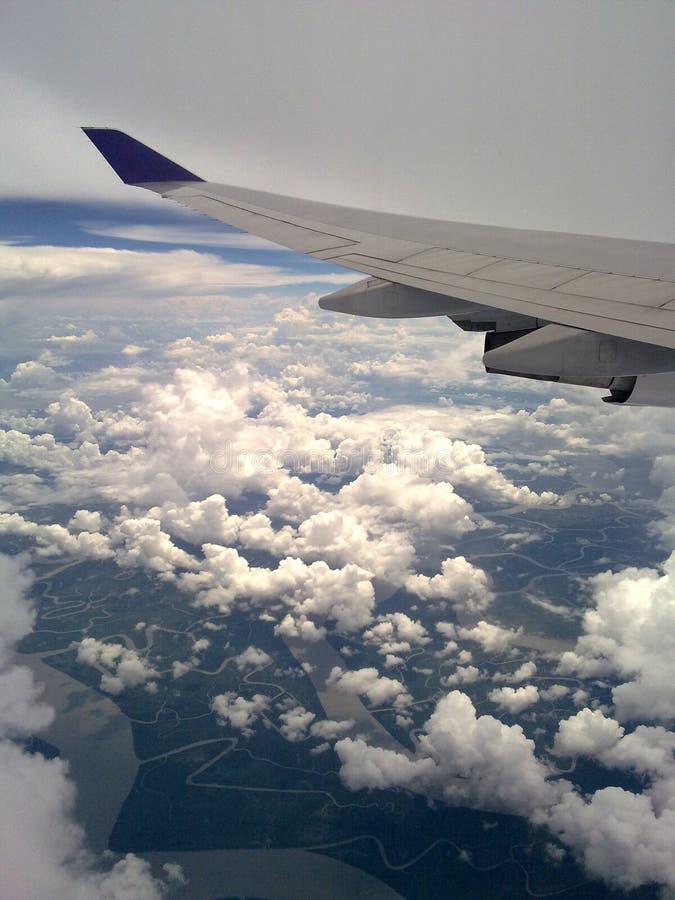 Himmel auf Flug lizenzfreie stockfotos