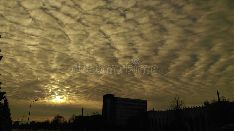 Himmel av natten i Litauen royaltyfria foton