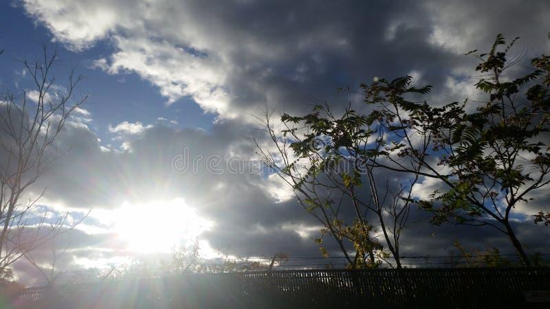 Himmel av säsonger royaltyfri bild