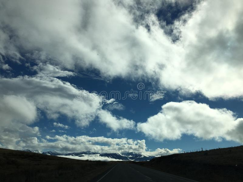 Himmel bewölkt Neuseeland stockfotografie