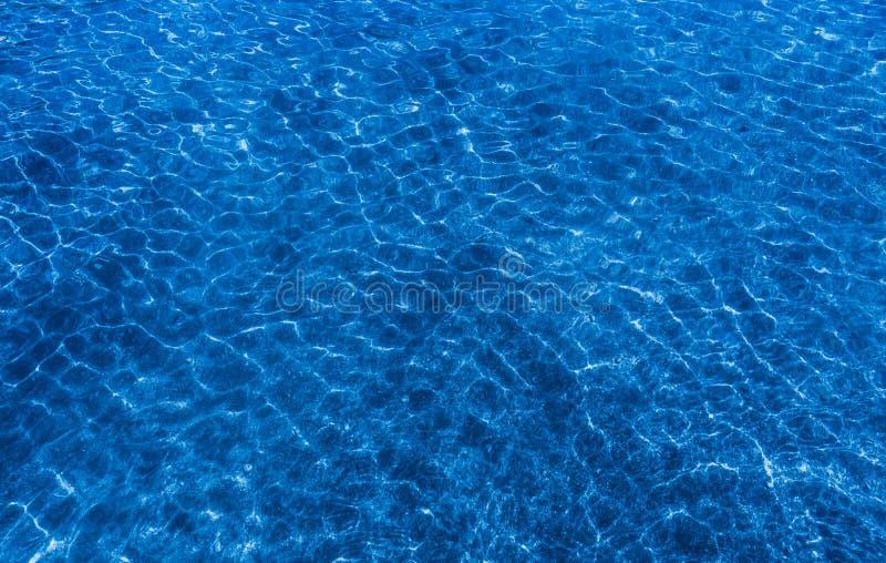 Himmel-blaues Wasser-Kräuselungs-Muster Feld des grünen Grases gegen einen blauen Himmel mit wispy weißen Wolken lizenzfreie stockfotografie