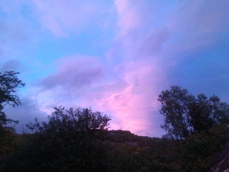 Himmel Colorfull fotografering för bildbyråer