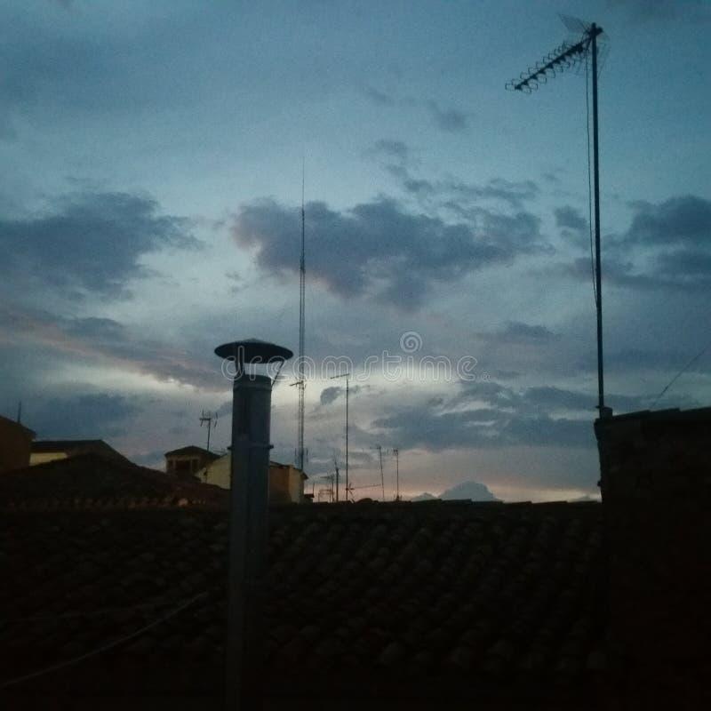 Himmel in der Nacht lizenzfreie stockbilder
