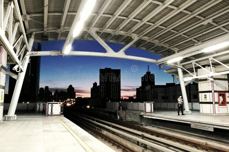 Himmel des frühen Morgens lizenzfreies stockbild