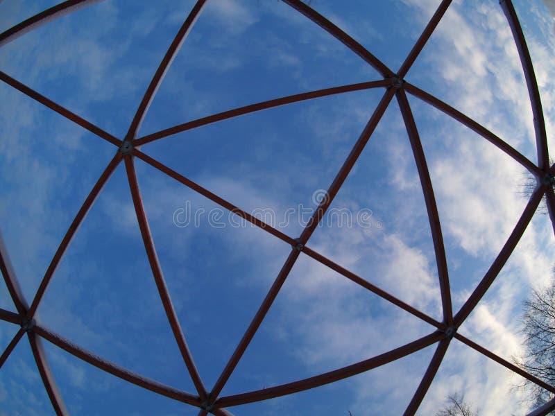 Himmel durch die fisheye Linse stockbild