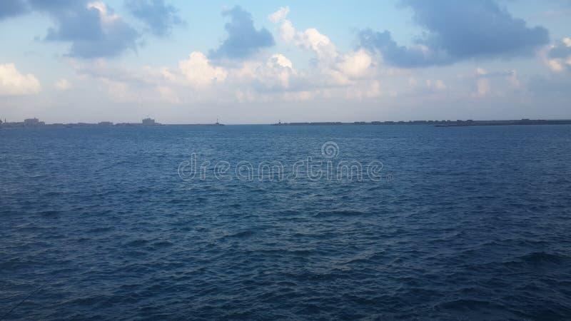 Himmel Egypten för Alexandria havsstrand arkivbilder