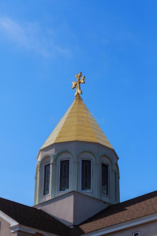 Himmel för armenierkyrkakors royaltyfri fotografi