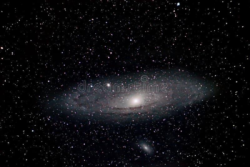 Himmel för natt för Andromeda Galaxy Night Sky Deep utrymme härlig royaltyfria bilder