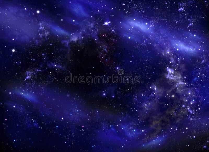 Himmel för stjärnklar natt, galaxbakgrund arkivbilder