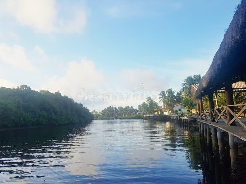 Himmel i floden arkivfoto