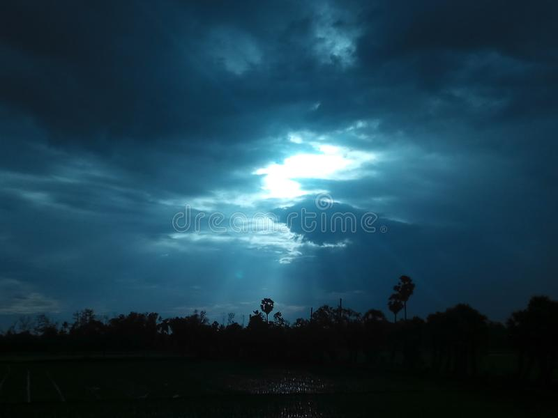 Himmel ist immer im Wind stockfoto