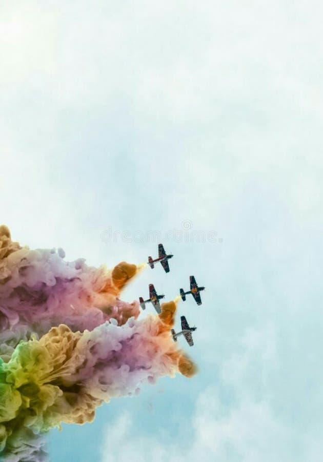 Himmel med färger arkivfoto