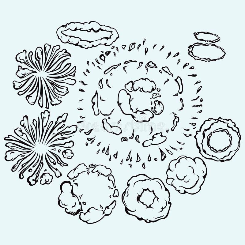 Himmel med molncloseupen vektor illustrationer