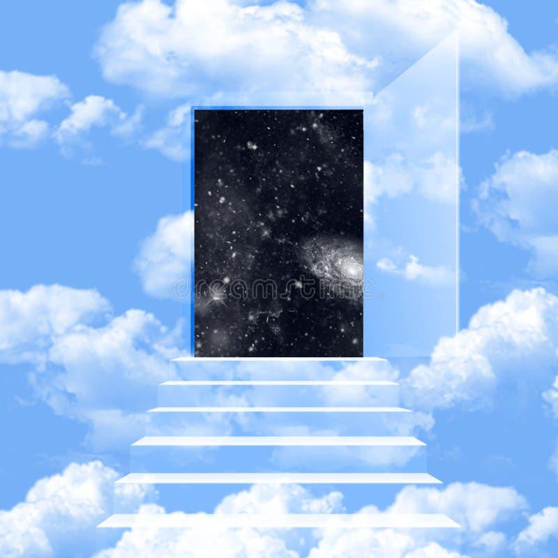 Himmel med universumblytaket fotografering för bildbyråer