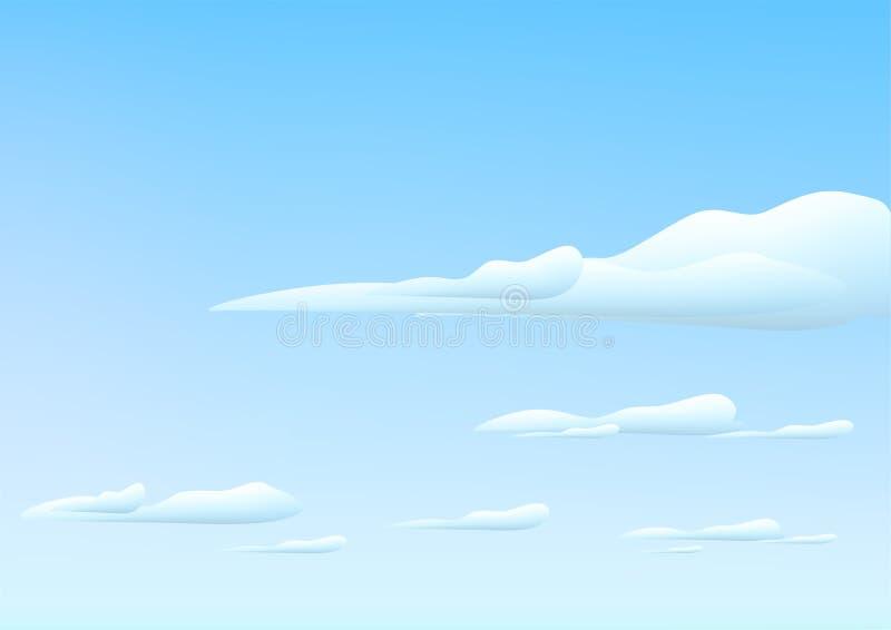 Himmel mit Wolken lizenzfreie abbildung