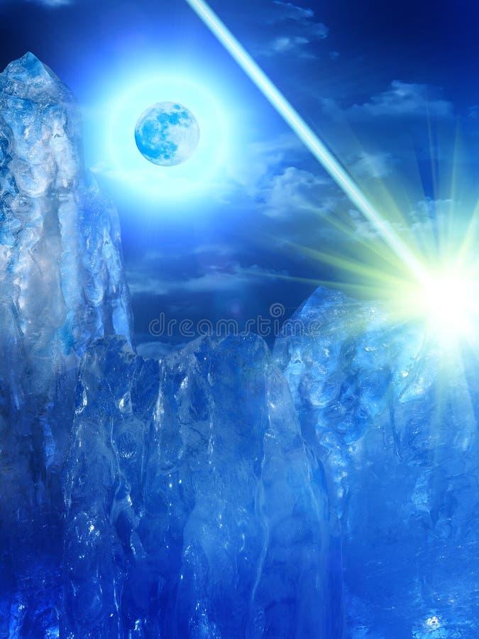 Himmel-Mondwolken lizenzfreies stockfoto
