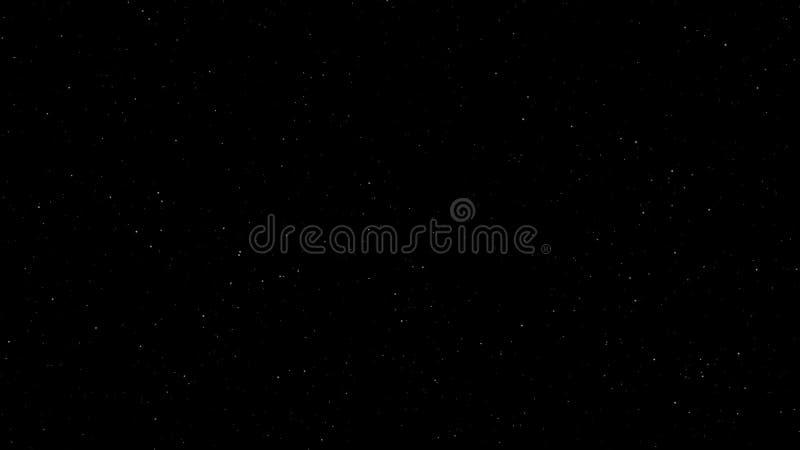 Himmel am Nachthintergrund stock footage