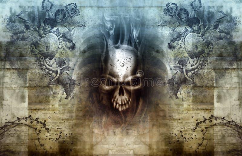 Himmel och helvete royaltyfri illustrationer
