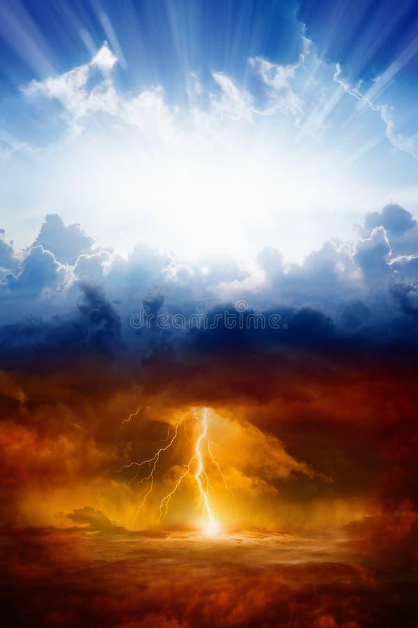 Himmel och helvete royaltyfri bild