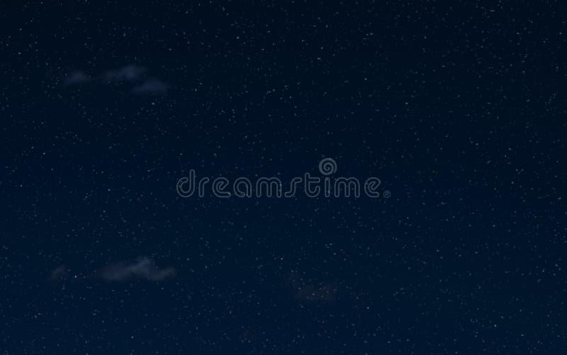 Himmel och moln för natt stjärnklar Extraknäcka mörka bakgrund och stjärnor i himlen fotografering för bildbyråer