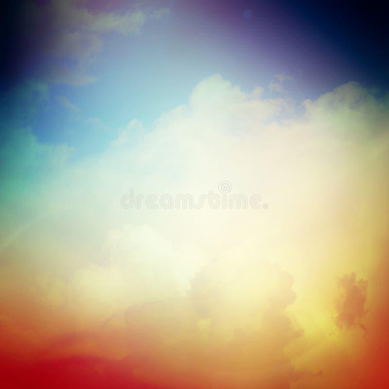 Himmel och moln med slät och oskarp bakgrund royaltyfri foto
