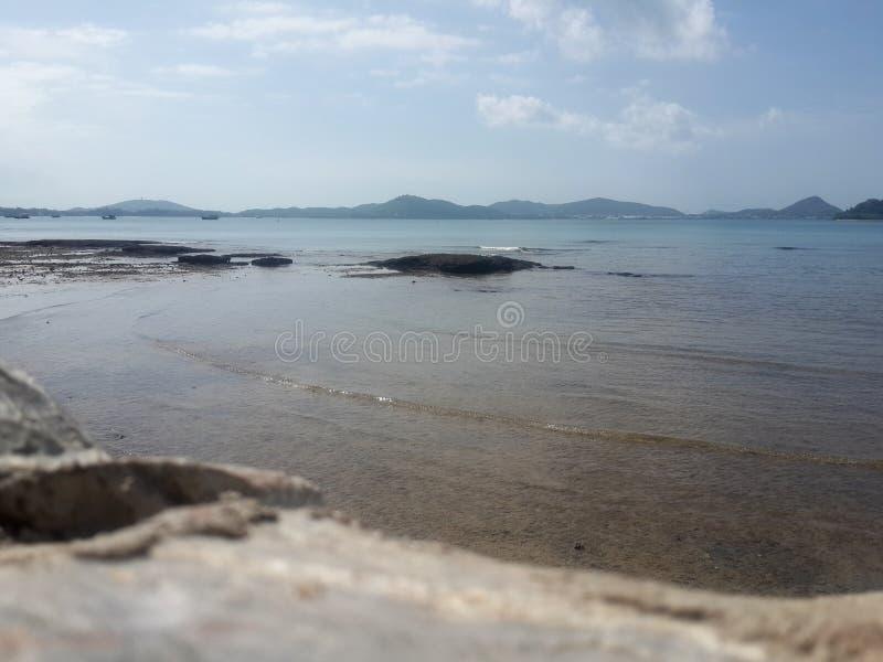 Himmel och strand fotografering för bildbyråer