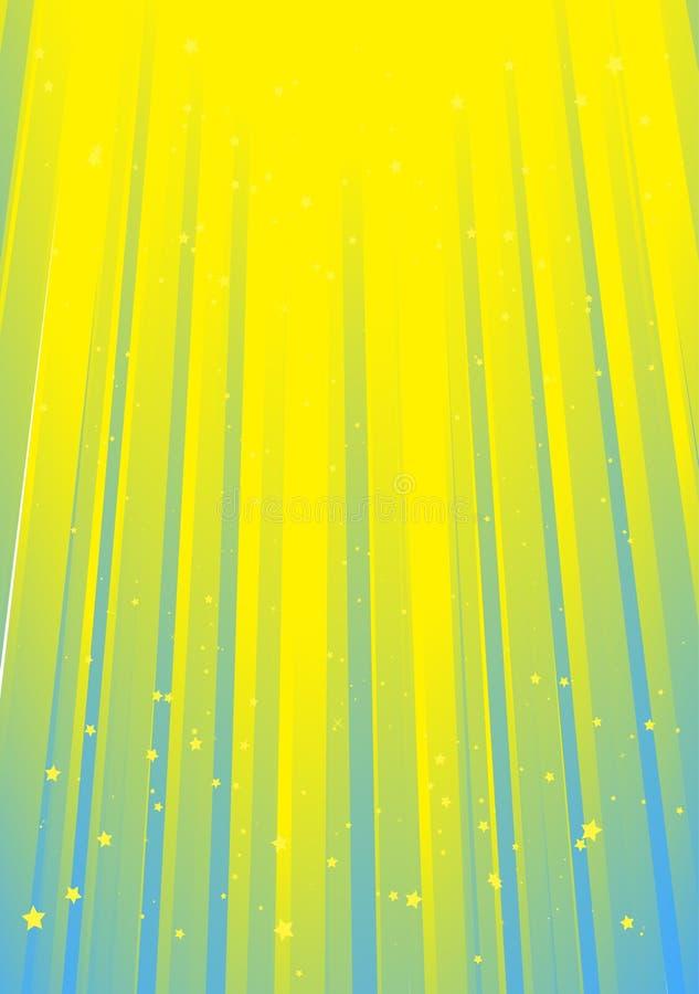 himmel rays vektorn stock illustrationer