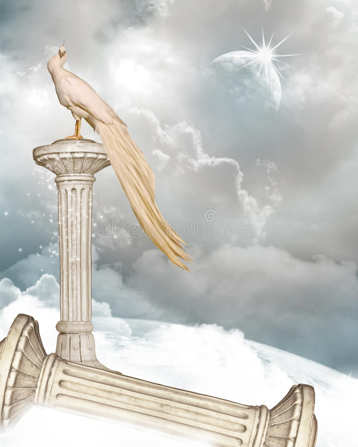 himmel s för 2 port royaltyfri illustrationer