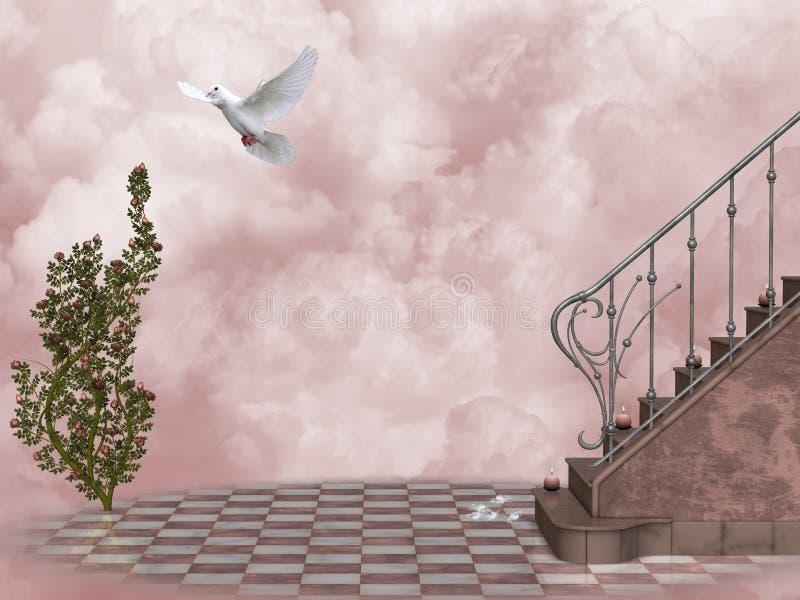 himmel s för 5 port stock illustrationer