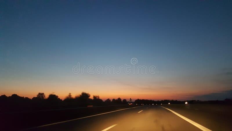 Himmel Sonnenuntergang imagens de stock