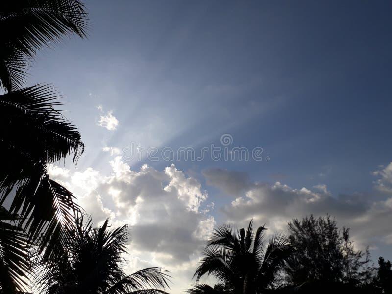 Himmel, Strand Hafen Dickson Malaysia lizenzfreie stockbilder