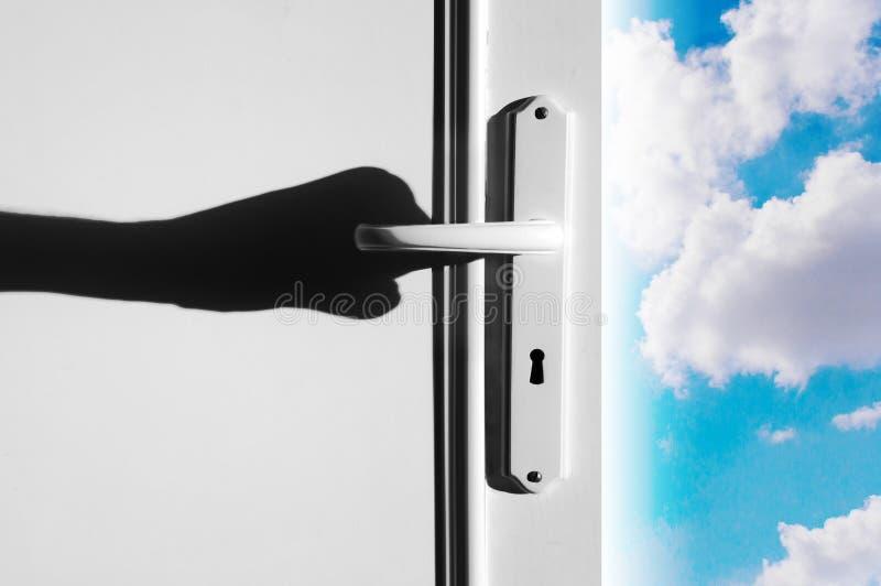 Himmel-Tür zum Himmel stockbild