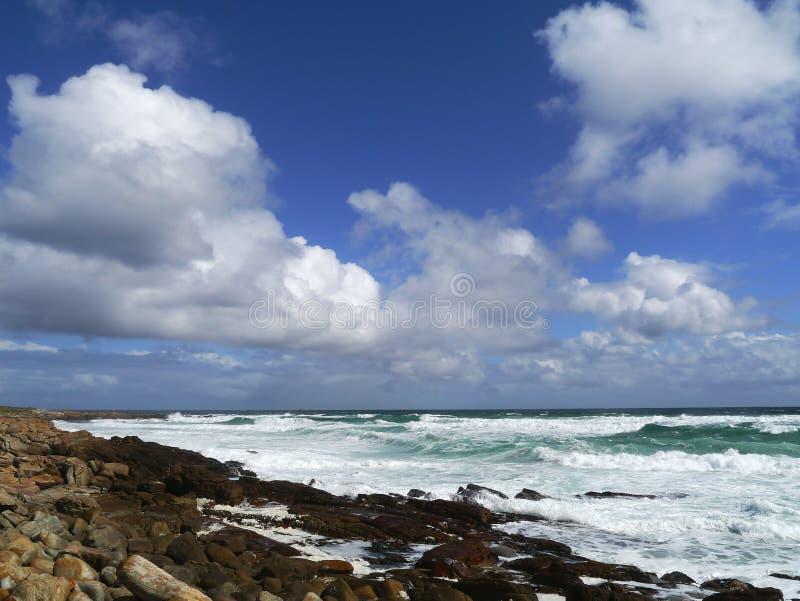 Himmel und Brandung beim Kap der Guten Hoffnung Südafrika stockfoto