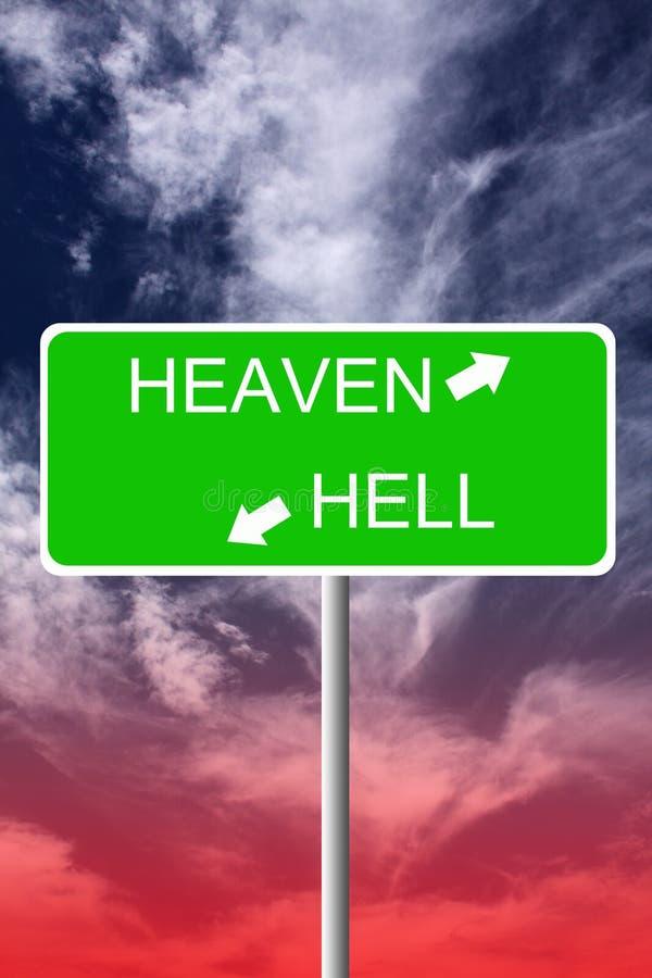 Himmel und Hölle lizenzfreie abbildung