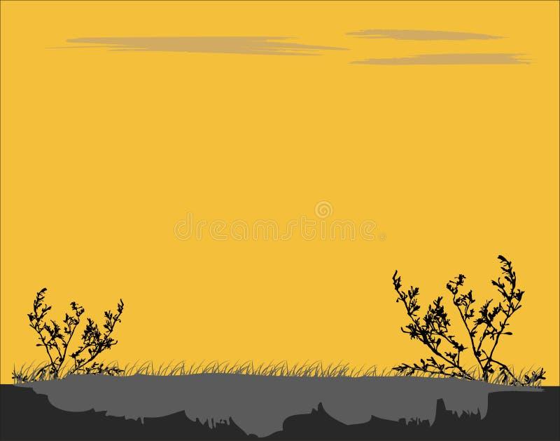 Himmel und Ozean auf Sonnenuntergang stock abbildung