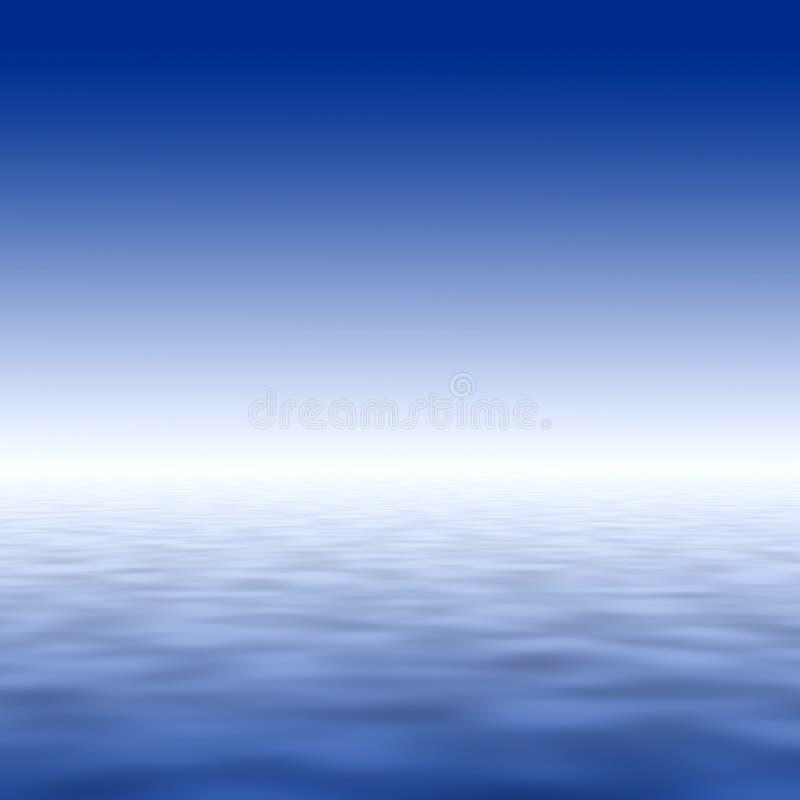 Himmel- und Wasserabbildung vektor abbildung