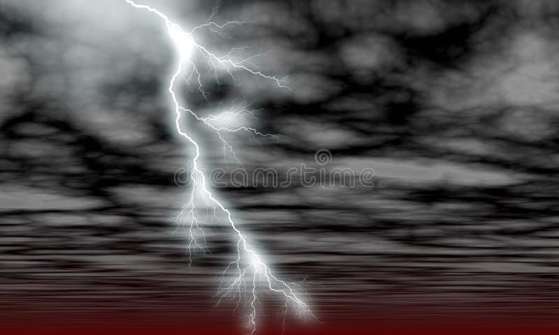 Himmel-Wolken und Blitz vektor abbildung