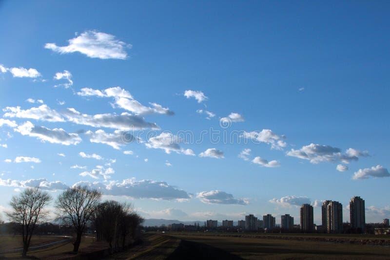 Himmel in Zagreb lizenzfreies stockbild