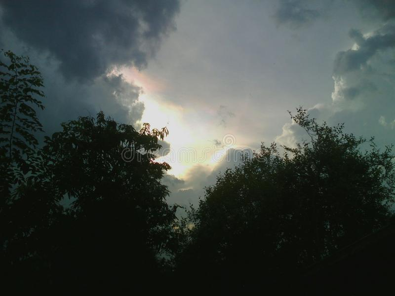 himmelafton royaltyfria foton