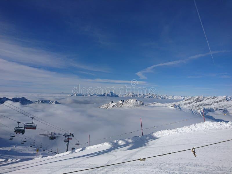 Himmelfoto från berget arkivfoton