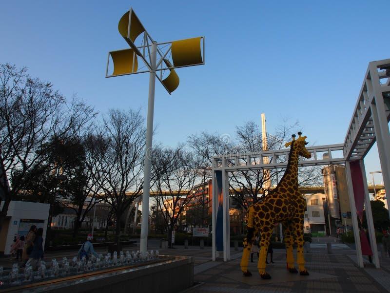Himmelgatagiraff Osaka Kansai Japan Travel royaltyfri fotografi