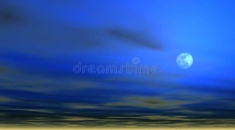 Download Himmelhintergrund Mit Mond [4] Stock Abbildung - Illustration: 37859