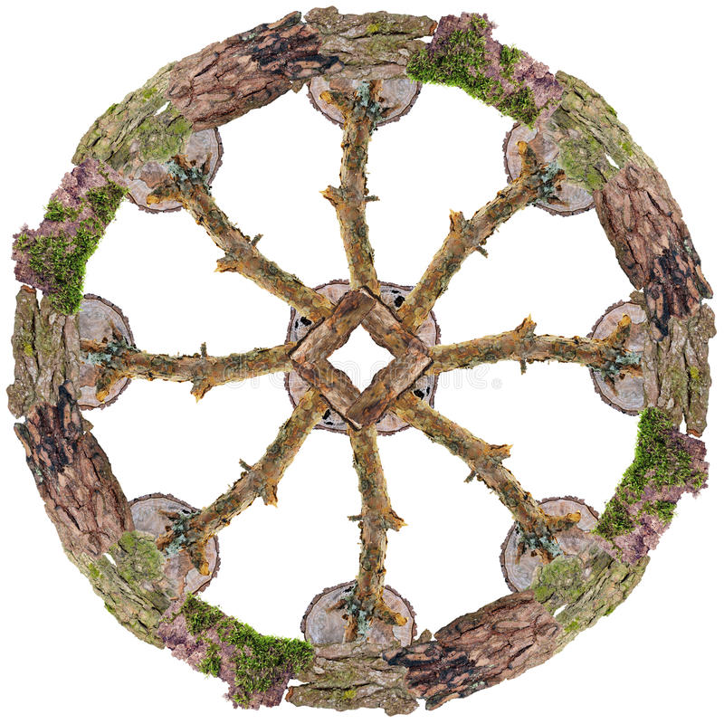 Himmelhjulsymbol royaltyfria foton